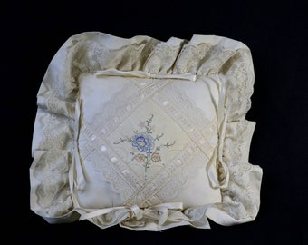 Lace & Embroidery Pillow