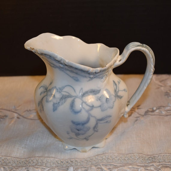 Lothair Johnson Brothers Creamer Vintage Blue White Johnson Brothers small Pitcher Creamer Made in England Gift for Her Mothers Day Gift