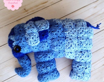 Granny Square Elephant (PATTERN ONLY)