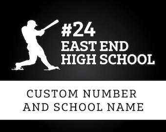 Custom Baseball Decal // Name, School, and Number
