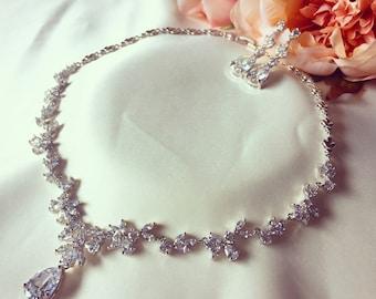 Crystal jewellery set, bridal set, jewelery set