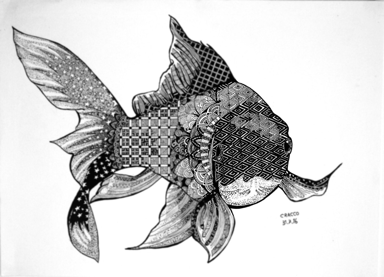 Poisson rouge goldfish dessin rare d 39 un animal avec for Acheter poisson rouge animalis