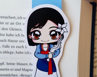 """Magnetic bookmarks """"Mulan"""" - inspired by Mulan"""