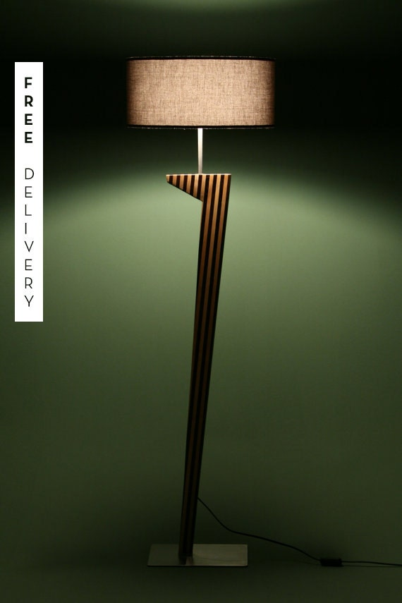 Floor lamp living room bedroom sof elegant modern - Elegant floor lamps for living room ...