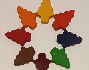 Set Of 10 Christmas Tree Crayons, Stocking Stuffers