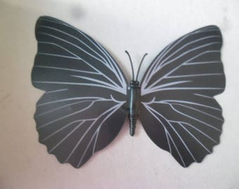 x 1 great/beautiful embellishment Butterfly shape your black/grey craft 12 x 9.5 cm