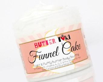 FUNNEL CAKE Body Butter Soufflé 4oz- Body Lotion - Vegan - Handmade - Paraben Free - Gluten Free