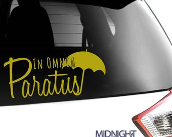 IN OMNIA PARATUS quote decal / Gilmore Girls / Vinyl Decal Sticker
