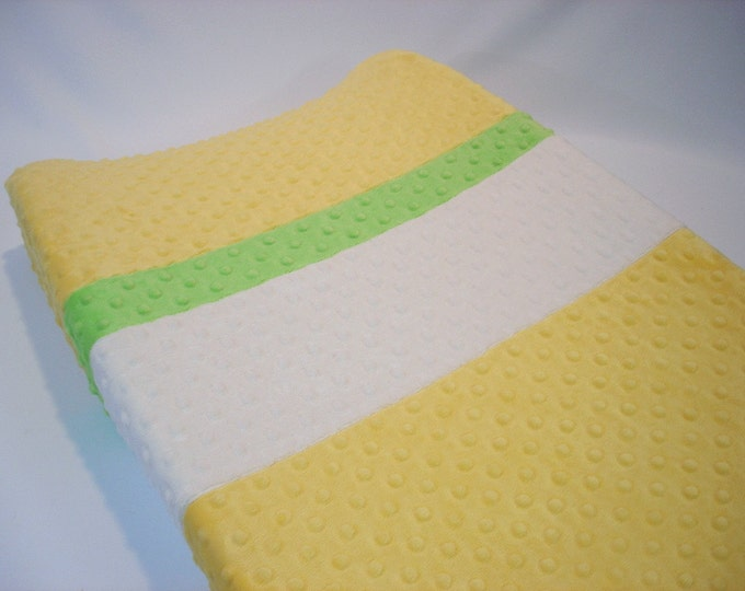 Daffodil Yellow Changing Pad Cover with Stripes