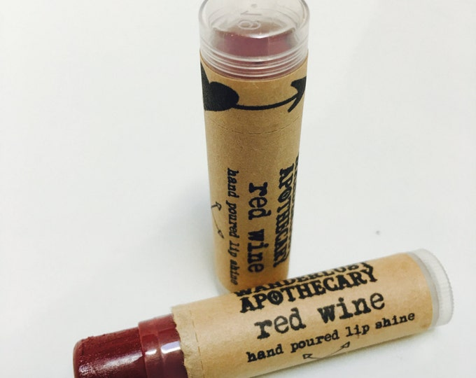 red wine lip lipstick,color all natural mineral lipstick, lipgloss, lipstain,wanderlust apothecary