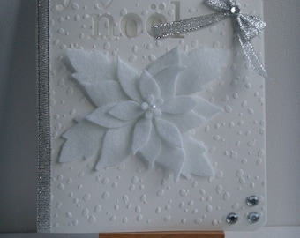 "Kit card ""Merry Christmas"" embossed snow poinsettia flower to make you even"