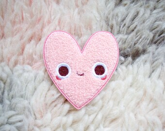 Iron On Patch - Heart Pal Iron-On Embroidered Chenille Patch - Iron-On - Sew On Patches