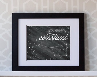 8x10 Print- You Are My Constant Big Dipper Landscape **DIGITAL DOWNLOAD**