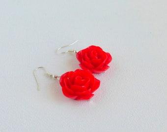 pink/red jewel Stud Earrings Red/Red/pink/red jewel earrings.
