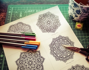 February Mandala-A-Day Colouring Pack