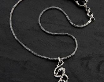 Snake Jewelry/slang ketting/Slang hanger/Dragon Jewelry/unieke ketting/zilver ketting/ontwerper/ketting/Hand gemaakt sieraden/925 ketting