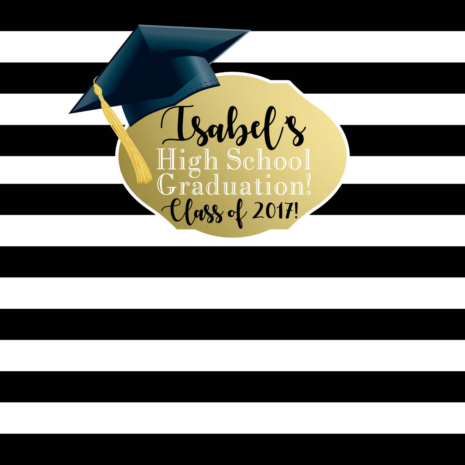 Graduation Photo Backdrop - Personalized Photo Backdrop- Class of ...