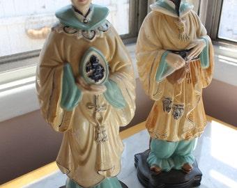 Holland Mold Asian Couple Ceramic Figurines