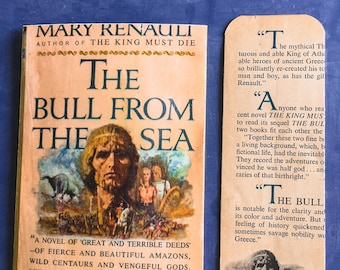 The Bull From the Sea    Snail Mail Postcard and Bookmark   Upcycled Book   Bookish, Bibliophile, Literary