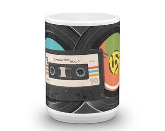 Retro Mix Tape and 45s Mug