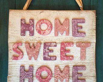 Ceramic Home Sweet Home Sing with Hooks