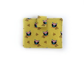 Folded Card Wallet, Fabric Card Case, Slot Card Wallet Women, Travel Gift for Her, Oyster Card Holder, Metro Card Wallet, Travel Card Holder