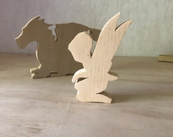 Wooden Fantasy Silhouettes