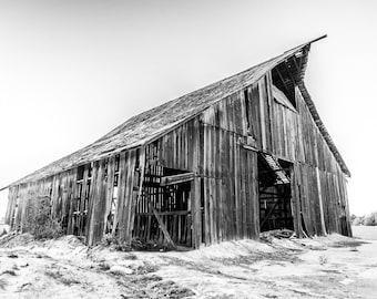 Print, Photography, Fine Art, Photo, canvas, JK Day, Wall Art, barn, black and white, rustic, farm, california, country