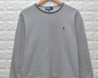 Vintage 90s Polo Ralph Lauren pony grey sweatshirt