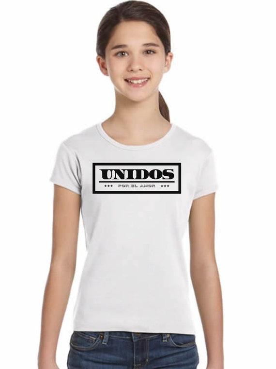 Girl t-shirt or body UNIDOS por el AMOR