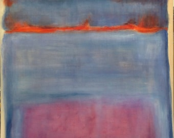 Hand Painted Mark Rothko Inspired 1949 Untitled Painting Reproduction On Canvas