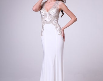 Spring Time White Prom Dress!