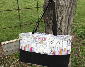 Large reversible Paris bag