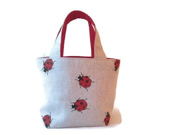 Ladybird Ladybird.. – Little Girls Handbag / Kids Ladybug Handbag / kids Ladybird Purse / Little Girls Purse / Toddlers Tote / Girls Tote