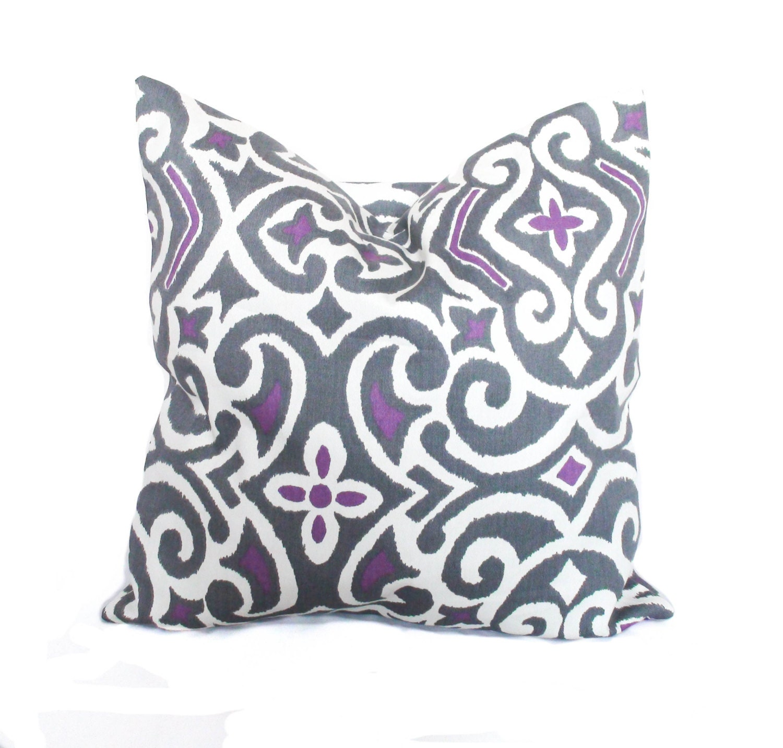🔎zoom. purple throw pillows purple pillow cover grey toss pillow