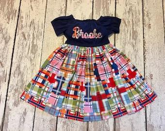 Girls name dress, girls dress with name, toddler dress