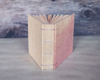 Square format journal / sketchbook with handmade papers