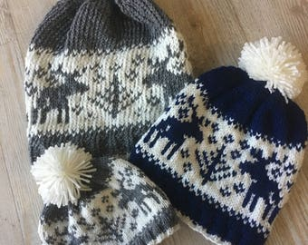 MADE TO ORDER // Knit Moosey Beanie, Moose Hat, Moose Beanie, Knit Moose Hat, Knit Moose Beanie