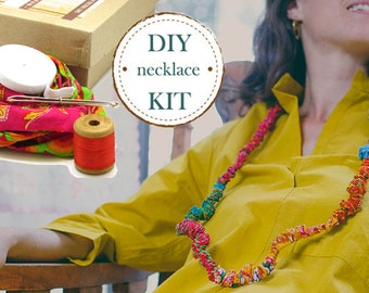DIY Necklace Kit, Make Your Own Necklace, Diy Jewelry Kit, Jewellery Making Ideas, Handmade Jewelry, Make Your Own Jewelry, DIY Presents Kit