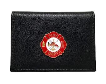 Fireman Business Card Case – Red Enamel