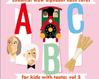 Alphabet flash cards inspired by Walt Disney World for kids with taste series 2