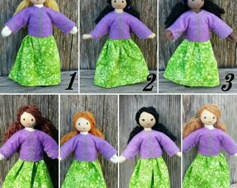 Dollhouse Doll - Waldorf Dollhouse - Bendy Doll - Girl Doll - Dollhouse People - Dollhouse Family - Dollhouse Dolls