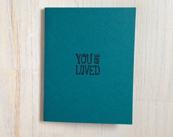 Medium Notebook: You Are Loved, Teal, Friendship, Blank Journal, Wedding, Favor, Journal, Blank, Unlined, Unique, Small, Notebook, GGG256