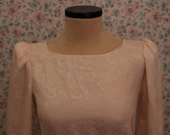 Vintage Pink Paisley Dress