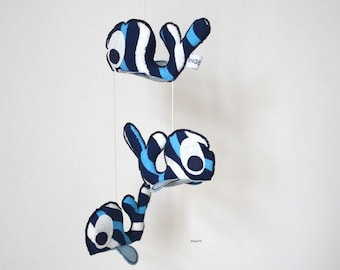 Mobile whale-Mobile-whale-nursery decoration-Little baby crib Mobile