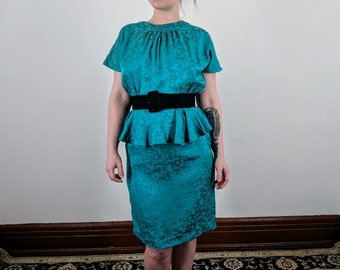 Teal Silk Dress
