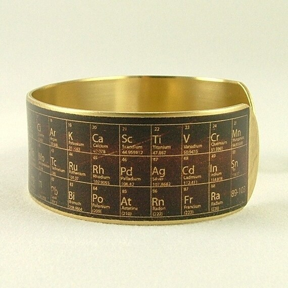 Chemistry periodic table of elements steampunk brass cuff chemistry periodic table of elements steampunk brass cuff bracelet pharmacist tech gift scientist geeky coworker gift urtaz Gallery