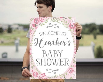 Baby Shower Welcome Poster - Baby Shower Welcome Sign -  Baby Shower Poster - Baby Shower Sign