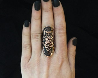 Spider Cuff Ring- Copper - Statement Ring - handmade from copper in my Studio in Austin, Tx - Jamie Spinello