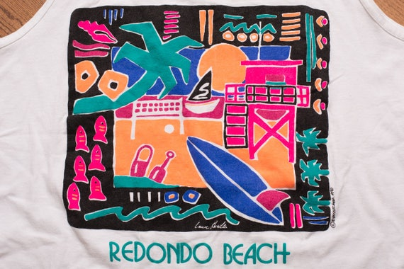 Recyclerog, Vintage Redondo Beach Surf Company Recycled Cotton Tshirt Large